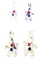Super cute Alice in wonderland the white rabbit stud earrings multiple choices