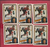 6 X 1984-85 OPC # 156 FLYERS BILL BARBER CARD