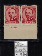 Echtheitsgarantie Deutsche Briefmarken des Saarland (1947-1959) mit Postfrisch
