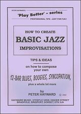 BASIC JAZZ IMPROVISATION Peter Hayward Learn How To Keyboard Organ Music Book