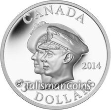 Canada 2014 First Royal Visit 75th $25 Double Portrait Ultra High Relief Silver