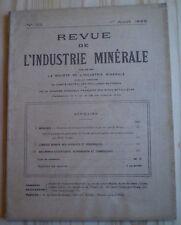REVUE DE L'INDUSTRIE MINÉRALE N° 135 (1926) / MINE/ PRESSIONS, PALÉONTOLOGIE