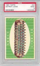 1961 Topps Football Detroit Lions Team Team (#37) PSA9 PSA
