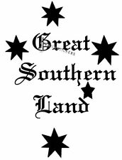 GREAT SOUTHERN LAND SOUTHERN CROSS CAR STICKER