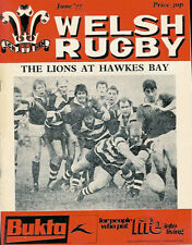 WELSH RUGBY MAGAZINE JUNE 1977, DOUBLE PAGE POSTER OF LIONS IN NZ,