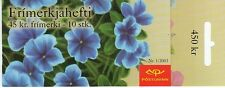 Iceland 1028 Flowers Stamp Booklet (MNH)