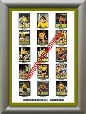 WOLVES - 1972-73 - REPRO STICKERS A3 POSTER PRINT