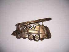 Vintage Fire Engine Ladder Truck Belt Buckle
