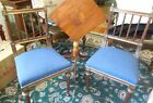 2 ANTIQUE Louis XVI Style Side Chairs with Brass Pineapple Finials