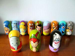"Mighty Beanz Lot of 12 Various Walt Disney Characters Jumbo Beans 3"" Tall C"