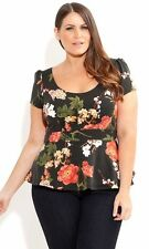 City Chic Cap Sleeve Floral Tops & Blouses for Women