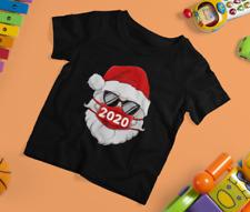 Cool Santa Claus With Glasses Quarantine Christmas Youth Boy T Shirt S-5XL Black