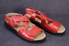 C1407 Theresia M. Damen Komfort-Sandalen Leder rot Gr. 40,5 G Wechselfußbett