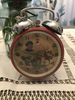 1950's Chairman Mao Chinese Vintage Wind-Up Clock WAVING Hand