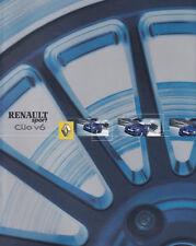 RENAULT CLIO V6 SPORT Youngtimer Mittelmotor Prospekt Sales Brochure 2003 /74