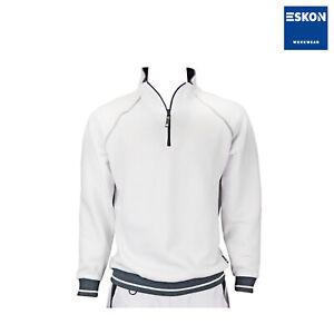 ESKON Workwear Performance ZIP- Sweat shirt weiß Maler Trockenbau Gipser Pulli