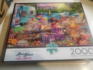 Aimie Stewart Family Campsite 2000 Piece Puzzle New