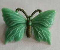 Art Deco celluloid butterfly brooch