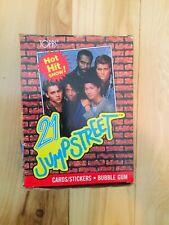 21 jump street tv show cards rare full box 1980s