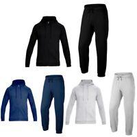 Mens Plain jogging suit Full Tracksuit Zipper Sweat Shirt Bottoms Top Fleece