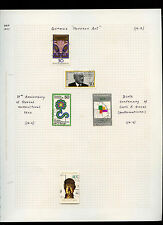 West Germany 1977 Album Page Of Stamps #V3080