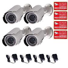 4x Security Camera w/ SONY EFFIO CCD 700TVL Outdoor IR Day Night Zoom Bullet A30