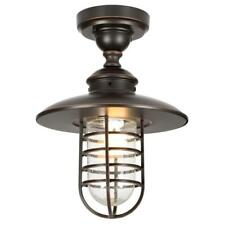Hampton Bay Outdoor Hang Oil Rubbed Bronze Pendant Flushmount Broken Gl