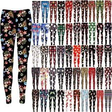 Womens Christmas Tree Bells Santa Gift Ankle Length Jeggings Ladies Xmas Legging