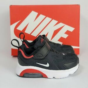 Nike Air Max 200 Toddler Shoes Size 9C Black Red Baby Sneakers 100% AUTHENTIC
