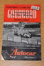 Goodwoood Easter Monday 19th April 1954 Race Programme