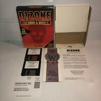 "UNTESTED Vintage PC Big Box 3.5"" Floppy D!Zone Expansion Doom &Doom II Game 1995"