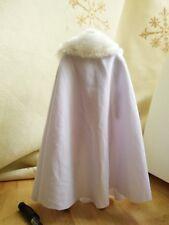 "1:6 Scale White Cape cloak W White fur collar For 12"" Male&Female Body Doll Toy"