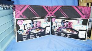 1 set New Monster High 'Scary Cute' 3 Piece Twin Bedding Sheet Set