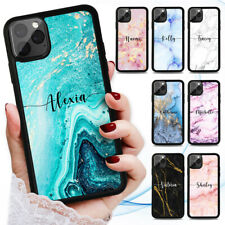 Personalised Name Marble Case Cover for iPhone 12 11 Pro Max 8 7 6 Plus X XR SE