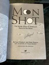 "Alan Shepard signed book ""Moonshot"" Apollo Astronaut"