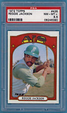 1972 Topps Reggie Jackson – #435 PSA 8.5! Athletics!