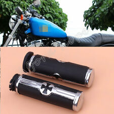 "Motorcycle Cross Logo 25mm 1"" Handlebar Rubber Gel Hand Grips For Harley Softail"