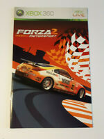Forza Motorsport 2 Xbox 360 INSTRUCTION MANUAL ONLY ! excellent condition