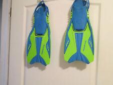 New listing U.S. Divers Scuba Diving Fins Size L/Xl 5-8 Green and Blue Open Heel Adjustable