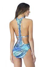 NWT Kenneth Cole New York Swimsuit Bikini 1 One piece Size L CYN