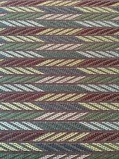 Upholstery Crypton Fabric Striped Arrow Purple Mauve Teal Green 3.7 Yds