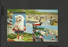 Bamforth Multi View Postcard Greetings From Filey-Crecent-Gardens posted 1969