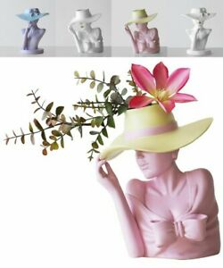 Flower Pot Beauty Flower Vase Pink Nordic Style Human Head Home Decoration Room