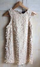 Topshop Cream / Beige 3D Flower Dress Size 6