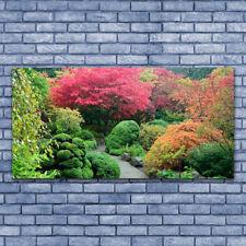 Impression sur verre acrylique Image Tableau 140x70 Nature Jardin Fleurs Arbre
