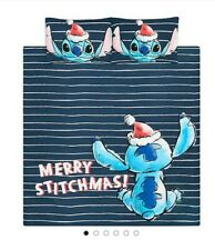 Disney Lilo & Stitch Christmas Duvet Set reversible bedding - King Xmas