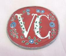 VINTAGE PORCELAIN ENAMEL TIN WALL SIGN - VC