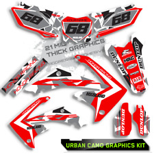 2013 2014 2015 2016 HONDA CRF 450 R URBAN CAMO : RED / BLUE GRAPHIC DECALS KIT