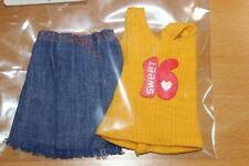 Superstar barbie Sweet 16 jeans & top 1974/raramente 70er