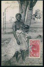 Senegal Thies nude woman breastfeeding Ethnic black Africa old c1910 postcard